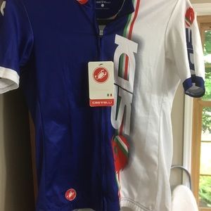 Cycling shirt zipper front